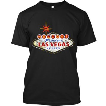 Welcome to Las Vegas Nevada Vintage Sign Souvenir T-Shirt Custom Ultra Cotton