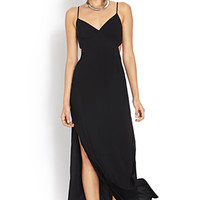 FOREVER 21 Clever Cut Maxi Dress