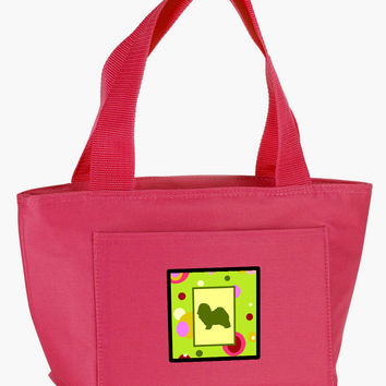Lime Green Dots Havanese Lunch Bag CK1101PK-8808