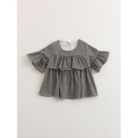 Kids Gingham Ruffle Dress