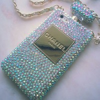 New Chic Luxury Fashion Bling All Rhinestones Perfume Bottle Mobile Cell Phone Case Cover for iPhone 4s 5s 6 plus Samsung - Casemoda | Pinkoi