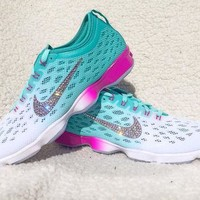 Crystal Nike Zoom Fit Agility Bling Shoes with Swarovski Elements Women's Nike Running