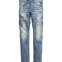 H&M - Tapered Low Jeans - Light denim blue - Men