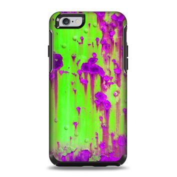 The Lime Green Metal with Hot Purple Rust Apple iPhone 6 Otterbox Symmetry Case Skin