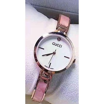 GUCCI Fashion Women Quartz Movement Watch Wristwatch Pink G