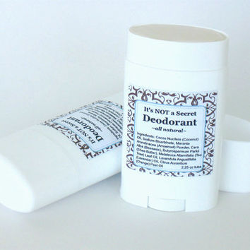 All Natural Organic Deodorant Stick, Homemade Deodorant, Gluten Free, Paraben and Aluminum Free Deodorant- Large Dial Up Tube