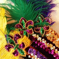 Fleurty Girl - Everything New Orleans - Mardi Gras Flapper Headband - Featured Products