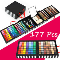 Professional Makeup Face Pressed Powder+  Eye Shadow 177 Color Concealing Contouring Palette Foundation Base Womens Gift 02