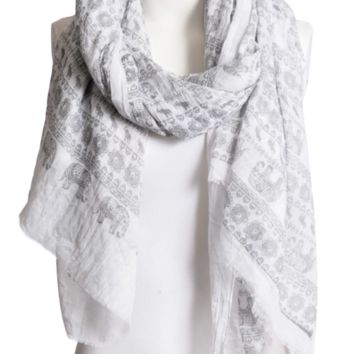Beautiful Gray & White Lightweight Elephant Boho