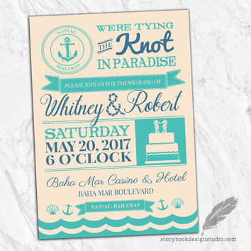 Nautical Paradise Wedding Invitation