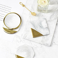 Ceramic Gold Plated Real Marble Placemats