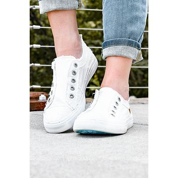 Laid-Back California Style Sneakers | White