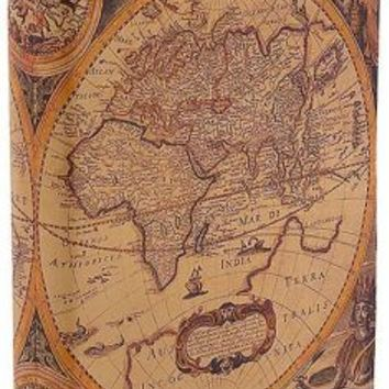 Antique Map Printed Italian Leather Journal 6'' x 8''