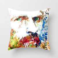Vincent... Throw Pillow by Maioriz Home
