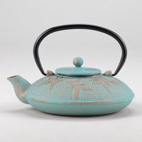 Aqua Butterfly Cast Iron Teapot - World Market