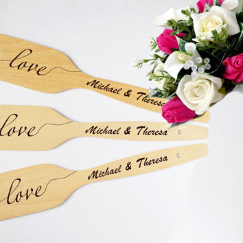 Personalized wooden spoon Wedding favor handmade engraved spoons Saved the Date or Wedding Gift engagement gift for couple SET OF 25