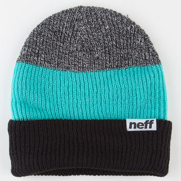 Neff Trio Fold Beanie Black/Mint One Size For Men 21923714901