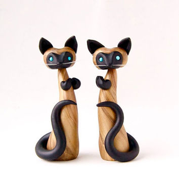 Siamese Cat Pair by Bonjour Poupette by BonjourPoupette on Etsy