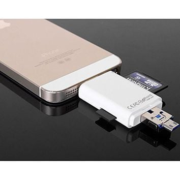HonkTai® Lightning iFlash USB SDHC Micro SD OTG Card Reader For IOS 9 iPhone 5 6 6S Plus iPad PC & Android