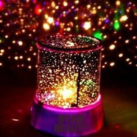 Innoo Tech**LED Star Night Light Projector Lamp,Colorful Bedroom Starry Light,Bed Side Lamp