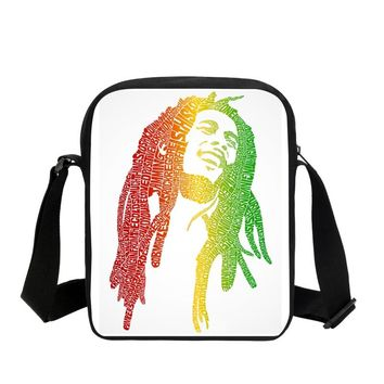 2018 new hot Reggae Bob Marley 3D printed characters satchel cool men travel bag, fashion men's music fans gift