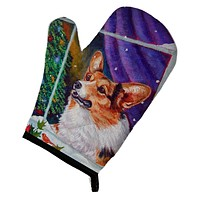 Corgi Christmas Window Oven Mitt 7305OVMT
