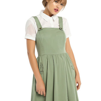 Over The Garden Wall Greg Olive Jumper Dress
