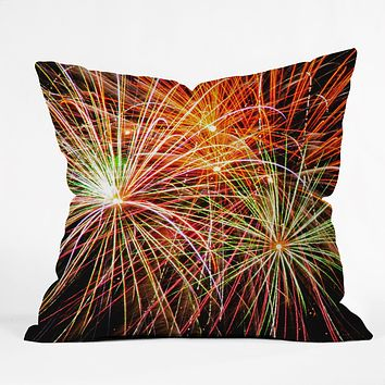 Shannon Clark Fireworks Throw Pillow
