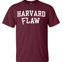 Harvard FLaw Law Shirt Printed T-Shirt Tee Shirt T Shirt Mens Ladies Womens Youth Kids Funny School Law University Student ML-017W