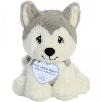 """Leader Of The Pack"" Malakai Wolf Stuffed Animal, 8.5 inches"