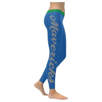 Dallas Basketball All-Over Low Rise Leggings: 2XS - 5XL available