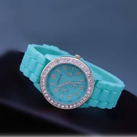 Mint Color Silicone Watch 05