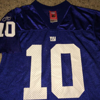 Sale!! Vintage Reebok NEW YORK GIANTS Football Jersey NfL youth shirt #10 Manning