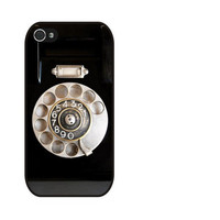 Rubber Case Vintage Rotary Phone case for iPhone 4s/4