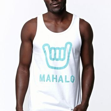 Wellen Mahalo Tank Top - Mens Tee - White