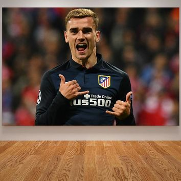 Kids Room Poster Griezmann Ronaldo Mohamed Salah Painting Football Star Living Room Decoration Modern Wall Art Picture Cuadros