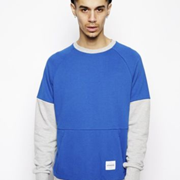 Supremebeing Raglan Sweatshirt With Back Print - Blue