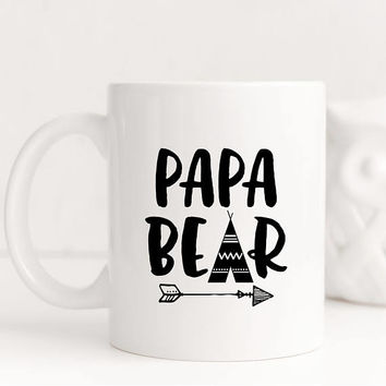 Coffee Mug, Ceramic Mug, 11 oz or 15 oz mug, Dad Gift, Father's Day Gift Under 20, Gift For Dad, Pregnancy Gift, New Dad  - Papa Bear