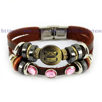 Real Soft Brown Leather Women Leather Jewelry Bangle Cuff Bracelet Men Leather Bracelet, Cuff Bangle R006