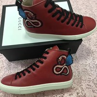 ❤shosouvenir❤GUCCI fashion casual shoes snake