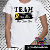 Childhood Cancer Personalize Shirts (Add Team Name and Cause)