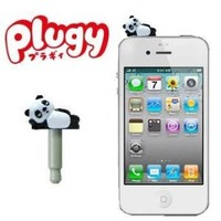 Plugy Earphone Jack Accessory (Panda)