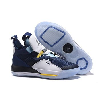 Air Jordan 33 Navy White Men Basketball Shoes - Best Deal Online