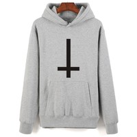 SMZY Satan Printing Cartoon Hoodies Men Hip Hop And Hooded New Brand Sweatshirt Men Clothes Fashion Autumn Style with 4 colors