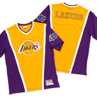 Mitchell & Ness 1996 Authentic Shooting Shirt Los Angeles Lakers In Yellow