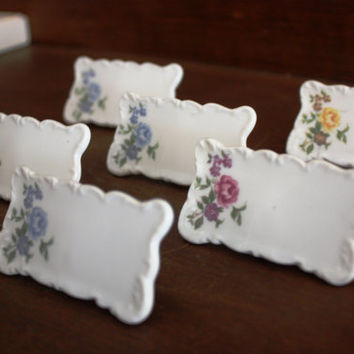 Two Sets of Six Vintage Shafford Place Card Holders