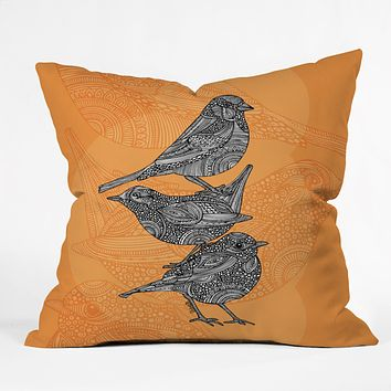 Valentina Ramos 3 Little Birds Throw Pillow