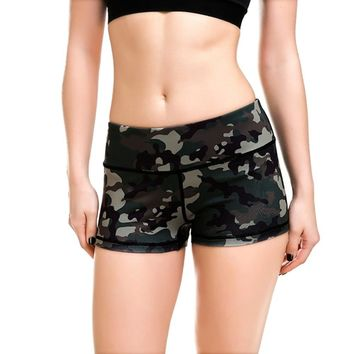 LOVE SPARK 2017 Army Green Camouflage Women's Shorts S To 4xL Girls Gym Dance Jogging Running Sport Shorts