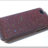 iPhone iPhone 5 case. Resin with glitter Red by Annysworkshop