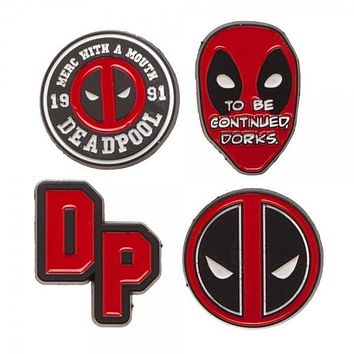 Deadpool Lapel Pin 4 pc Set